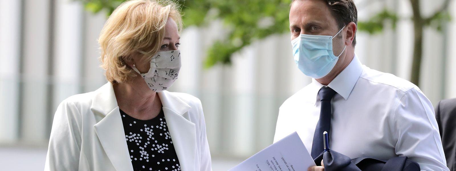 Premierminister Xavier Bettel (DP) und Gesundheitsministerin Paulette Lenert (LSAP) sind die bekanntesten Regierungsgesichter im Kampf gegen die Corona-Pandemie.