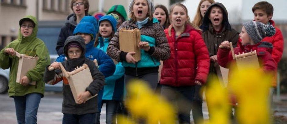 "Klibberkanner replace the church bells from ""Green"" Thursday until Easter Sunday"