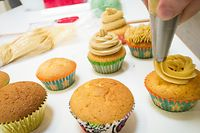 Gehen immer: Die Cupcakes mit Mokkacreme, die die Teilnehmer kreierten, zählen zu Jil Waxweilers großen Favoriten.