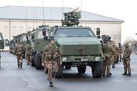 22.1. Norden / Nato Manöver First Wolf / Start Kaserne HerrenBerg / Lux Armee Foto:Guy Jallay