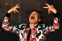 "(FILES) In this file photo taken on June 26, 2018 British musician Mick Jagger of The Rolling Stones performs during a concert at The Velodrome Stadium in Marseille on June 26, 2018, as part of their 'No Filter' tour. - British rock icon Mick Jagger said on March 30, 2019 he was ""devastated"" after his Rolling Stones were forced to cancel their United States and Canada tour dates so he could receive ""medical treatment"". (Photo by Boris HORVAT / AFP)"