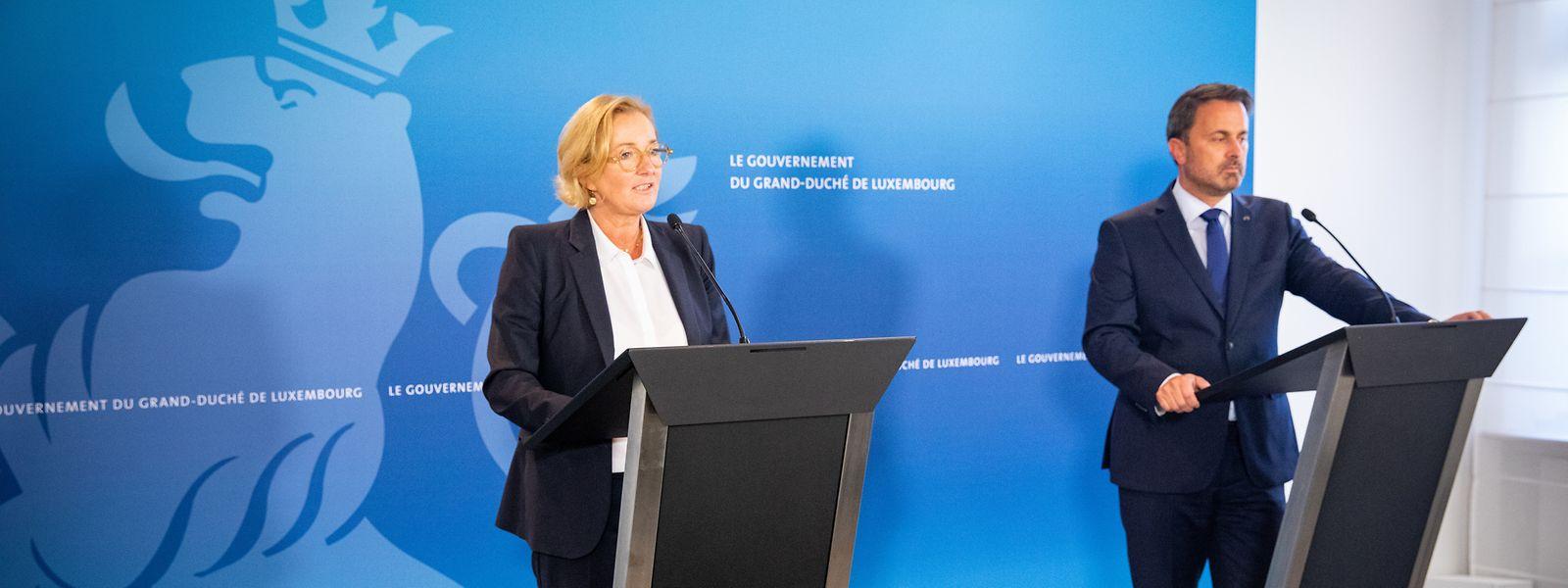Premier Xavier Bettel und Gesundheitsministerin Paulette Lenert informierten im Rahmen einer Pressekonferenz über die jüngsten Entwicklungen in der Pandemie.
