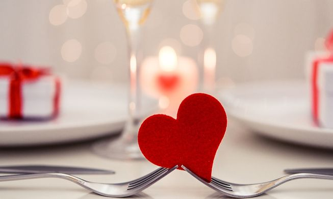 Valentine's menus from €30 to €238 – you can treat your Valentine whatever your budget.