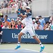 2018 US Open Tennis Tournament- Day One. Gilles Muller of Luxembourg in action against Lorenzo Sonego of Italy on Court Fifteen at the 2018 US Open Tennis Tournament at the USTA Billie Jean King National Tennis Center on August 27th, 2018 in Flushing, Queens, New York City.  (Photo by Tim Clayton)