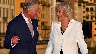 Le prince Charles et son épouse Camilla, duchesse de Cornouailles à Florence en mars 2017.