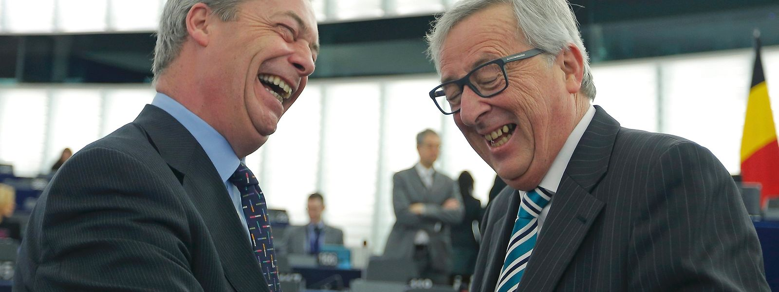 """Fair deal"": Ukip-Chef Nigel Farage, EU-Kommissionschef Jean-Claude Juncker."