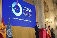 Le roi d'Espagne, Felipe VI est lui aussi monté à la tribune de la COP25 à Madrid