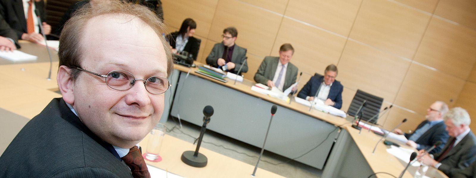 Frank Schneider im April 2013 vor dem SREL-Untersuchungsausschuss.