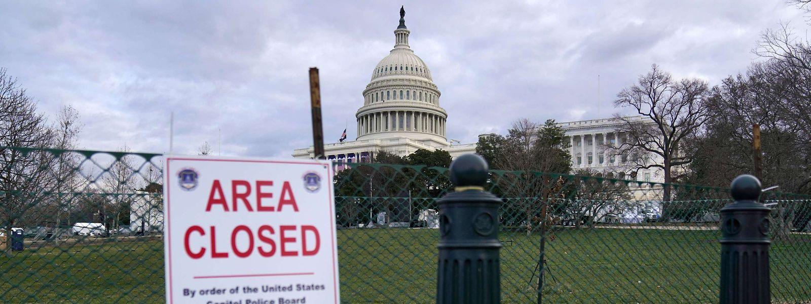 Das Zentrum von Washington schottet sich in den Tagen bis zur Amtsübergabe regelrecht ab.