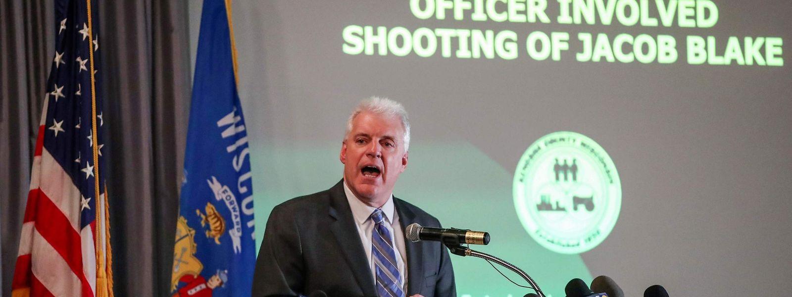 Staatsanwaltschaft Michael Gravely bei der Pressekonferenz am Dienstag.