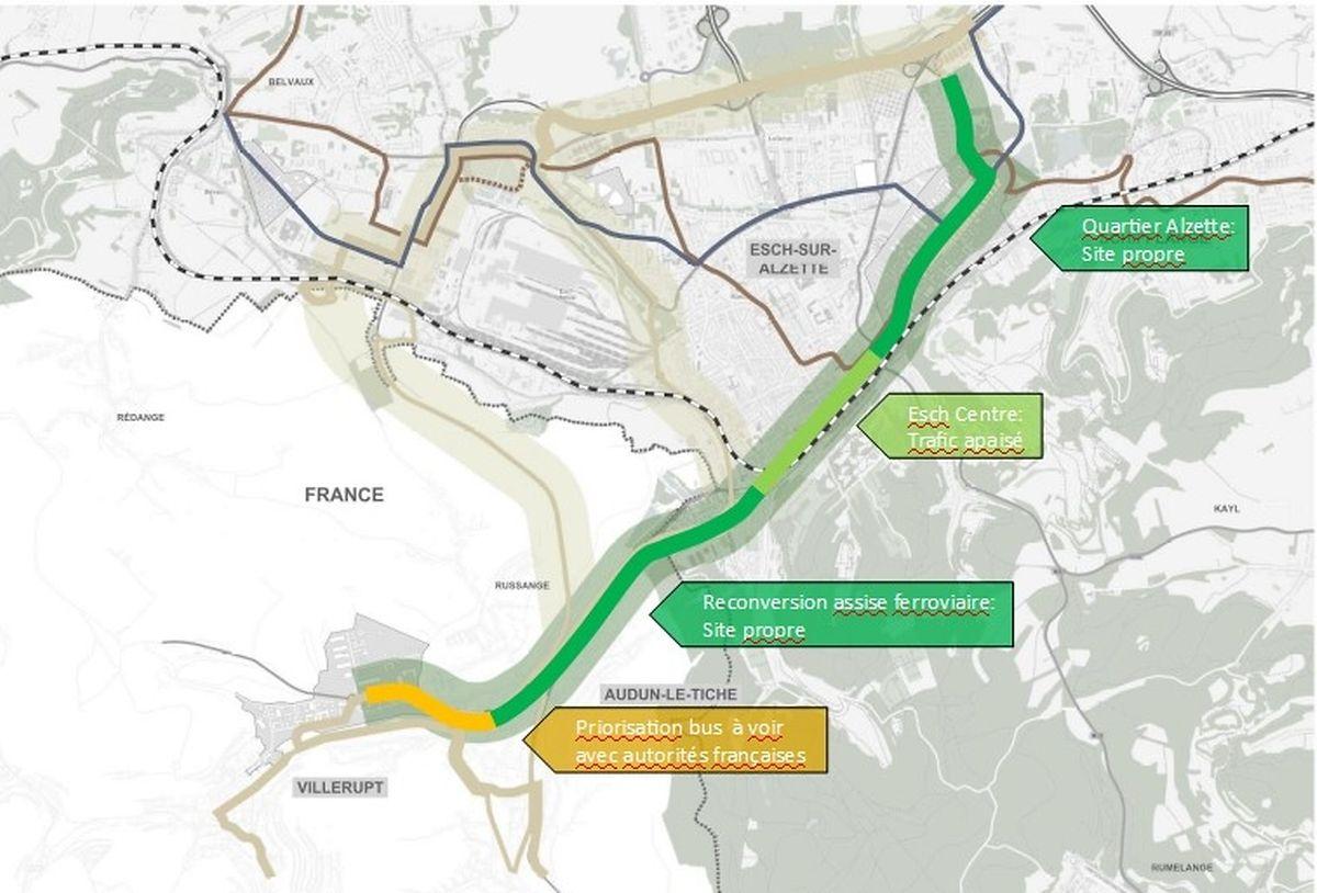 La nouvelle ligne bus fera la liaison entre deux zones à forte urbanisation dans les années à venir.