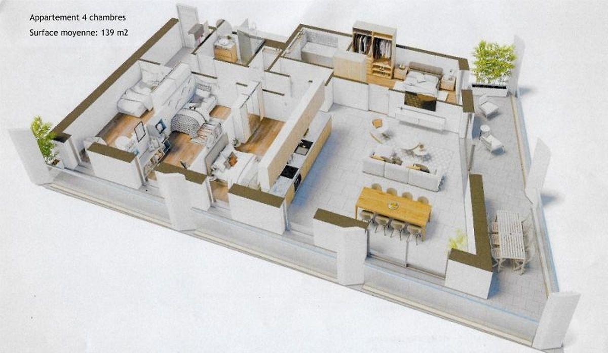 Plusieurs types d'appartements seront proposés à l'achat et à la location.