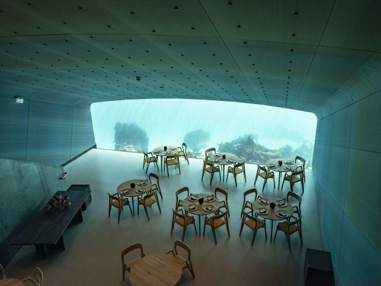Ein Festmahl für die Augen: Der Speisesaal des Unterwasserrestaurants «Under» an der Südküste Norwegens.