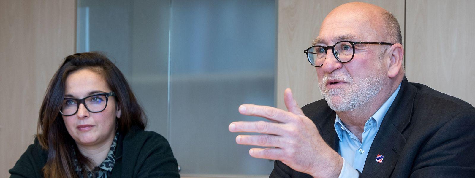 Der OGBL wappnet sich für die Veränderungen in der Berufswelt, sagen André Roeltgen und Nora Back.