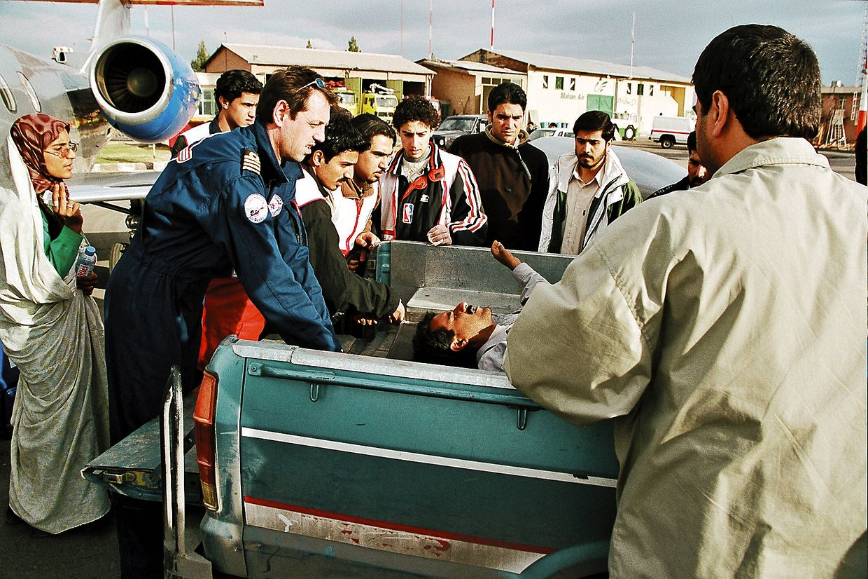 Le Luxembourg Air Rescue est également intervenu à l'étranger, comme ici en Iran.