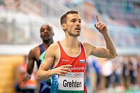 Charel Grethen (1500m) / Leichtathletik, CMCM Indoor Meeting 2021 / 13.02.2021 / Luxemburg / Foto: Christian Kemp