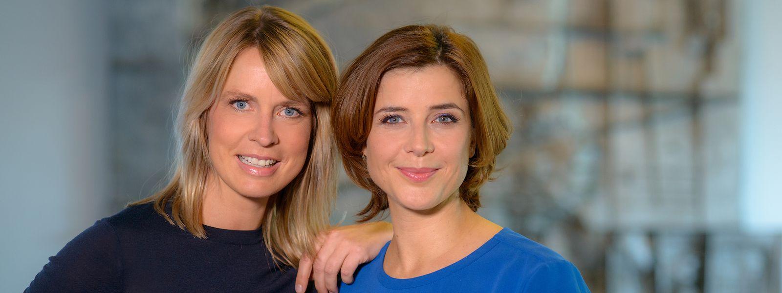 Führen gemeinsam durch den neuen Berlin-Talk: Jessy Wellmer (l.) und Eva-Maria Lemke.
