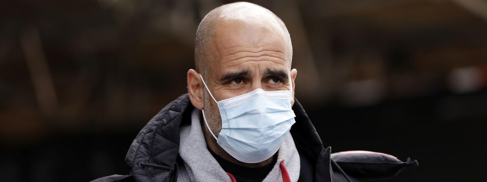 Trainer Pep Guardiola (Manchester City) fordert höchste Konzentration von seinen Schützlingen.
