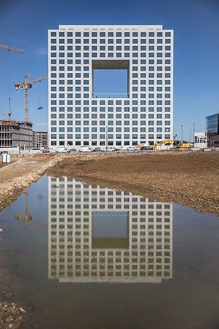 Le «D.Square», nouveau QG de Deloitte Luxembourg a accueilli 2.000 salariés, début juin 2019.