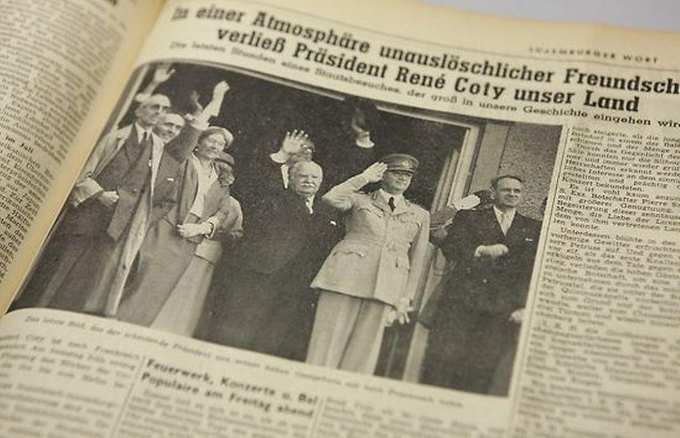 Le Luxemburger Wort s'était fait l'écho d'une visite très positive du président Coty.