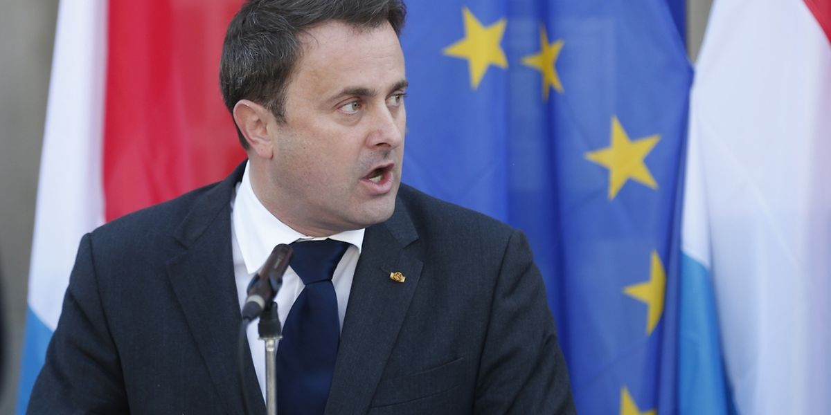 O primeiro-ministro do Luxemburgo, Xavier Bettel.