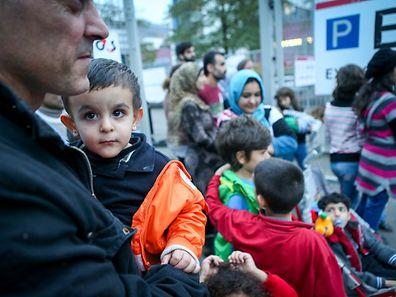 Ankunft 30 Flüchtlinge Luxexpo - Photo : Pierre Matgé