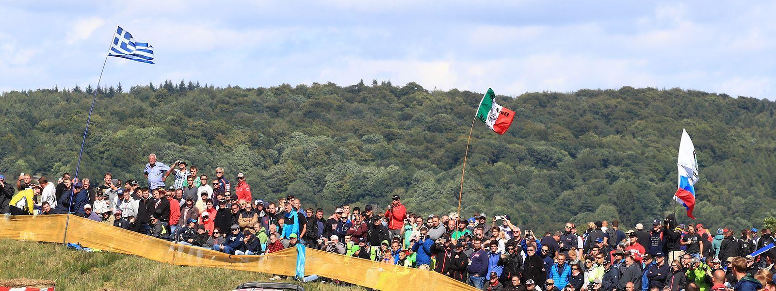 Bei der Rallye Deutschland sind die Zuschauer mittendrin statt nur dabei.