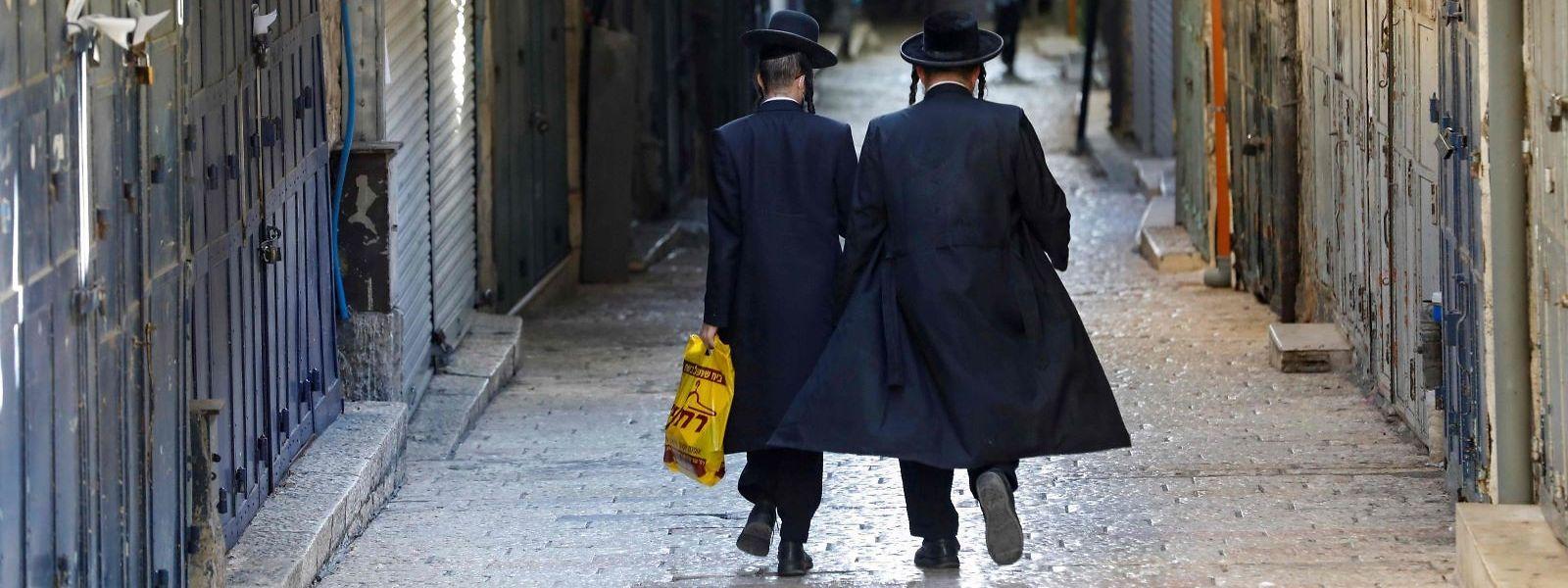 Ultraorthodoxe Israeli im Zentrum von Jerusalem.