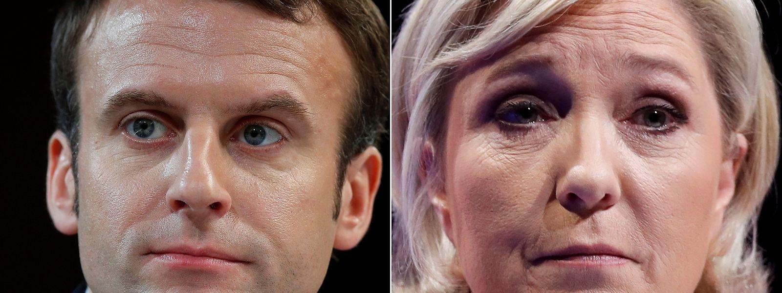 Emmanuel Macron und Marine Le Pen stehen in der Stichwahl - die mit einiger Sicherheit an Macron gehen wird.