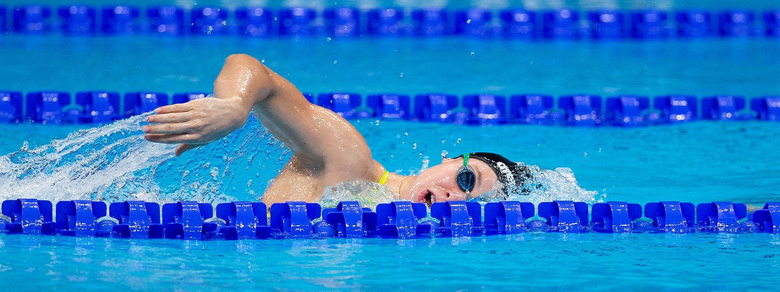 Julie Meynen wird über 50 m und 100 m Freistil im Einsatz sein.