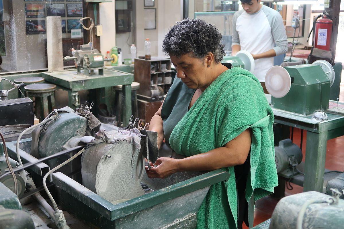 Lehrreicher Ausflug: Die Passagiere besuchten in Antigua Guatemala unter anderem das Jade-Museum mit angeschlossener Werkstatt.