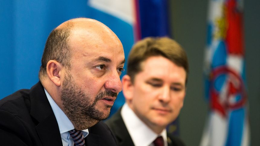 Luxembourg Deputy Prime Minister Étienne Schneider and Chris Lewicki, President & CEO Planetary Resources Inc