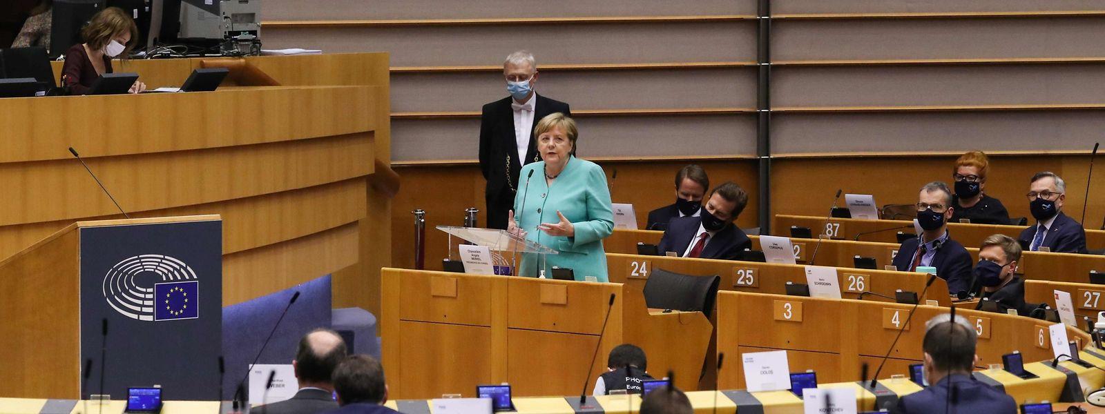 Bundeskanzlerin Angela Merkel im Europaparlament.
