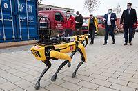 Wi , Alzingen , Stugalux , Roboter bei der Vermessung im Einsatz , Foto:Guy Jallay/Luxemburger Wort