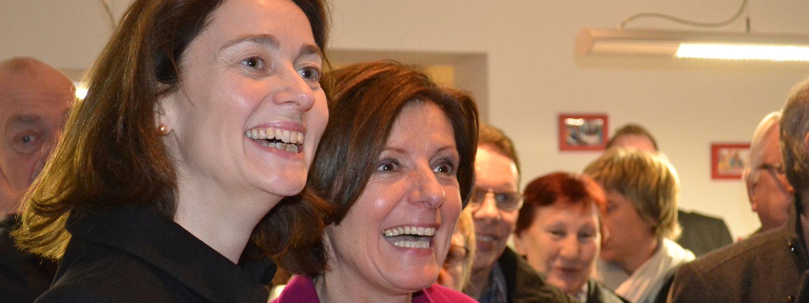 Die Triererin Katarina Barley (links, mit der rheinland-pfälzischen Ministerpräsidentin Malu Dreyer) rückt als Familienmnisterin in die Bundesregierung nach.