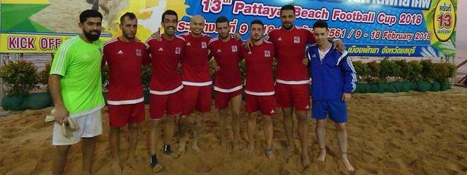 L'équipe luxembourgeoise de beach-soccer à l'oeuvre en Thaïlande.