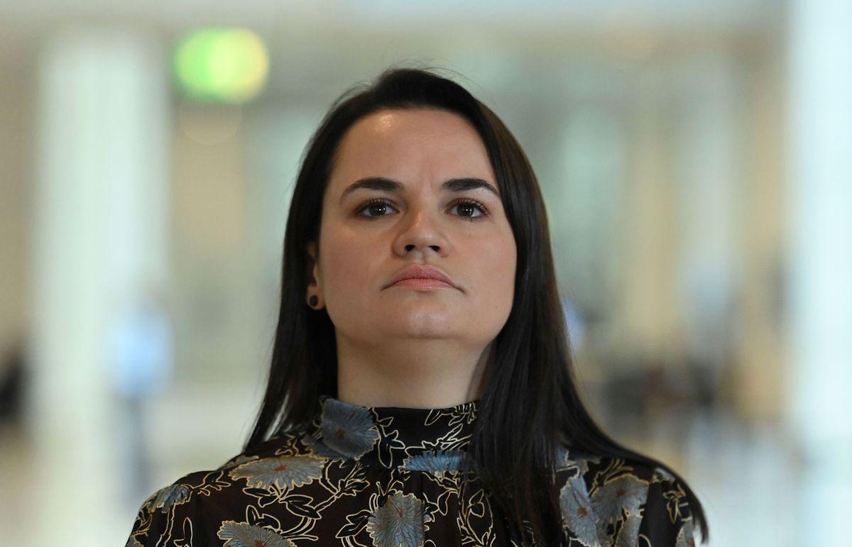Oppositionsführerin Swetlana Tichanowskaja am vergangenen Mittwoch.