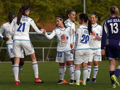 Joie Racing Luxembourg / Football Ligue 1 Dames Luxembourg, 18ème Journée, Saison 2016-2017 / 22.04.2017 / Racing FC Union Luxembourg  - SC Ell  / Stade Camille Polfer, Luxembourg / Photo : Michel Dell'Aiera