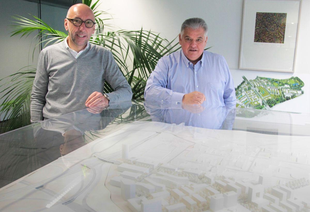 Michel Knepper (à gauche) et Flavio Becca