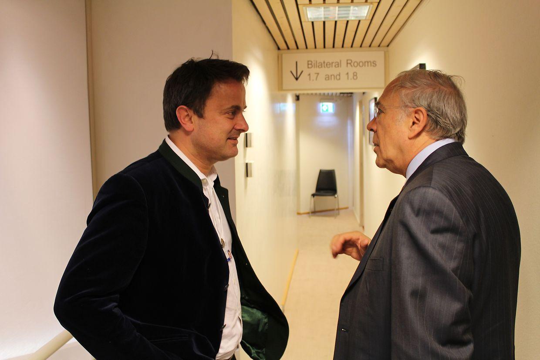 (de g. à dr.) Xavier Bettel, Premier ministre, Angel Gurría, secrétaire général de l'OCDE