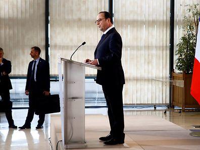 Le président français François Hollande lors de l'inauguration de l'Agence française anticorruption au ministère de l'Economie à Bercy.