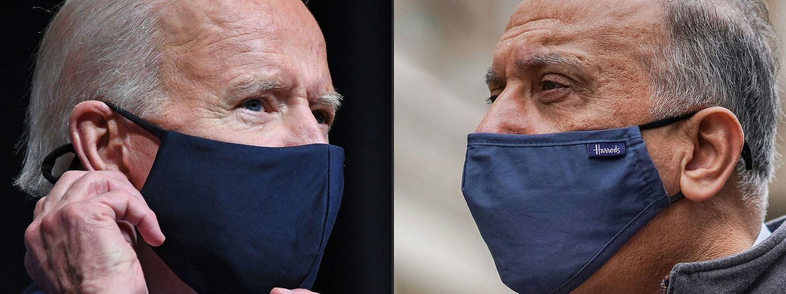 US-Präsident Joe Biden (l.) und der irakische Ministerpräsident Mustafa al-Khademi.