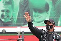 Hamilton tornou-se no recordista mundial de vitórias (92) na Fórmula 1.