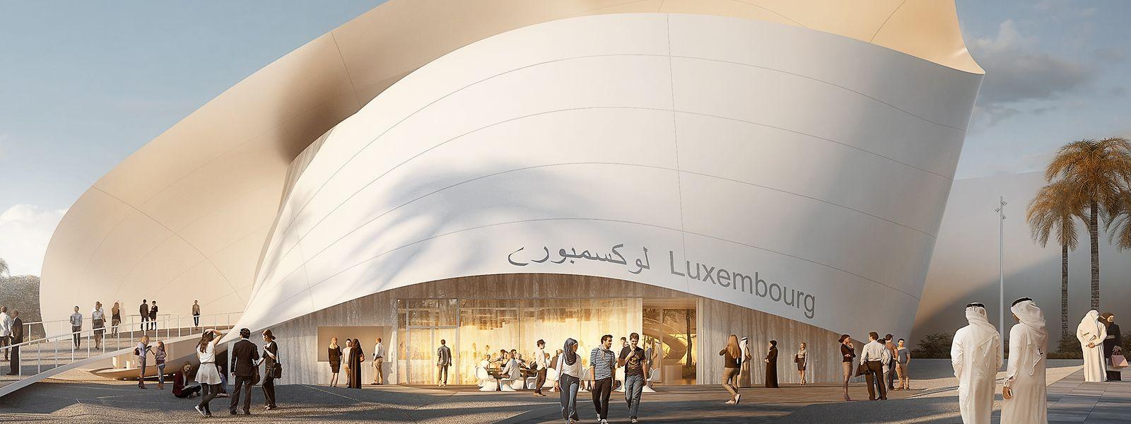 So soll der Luxemburger Pavillon bei der Weltausstellung in Dubai aussehen.
