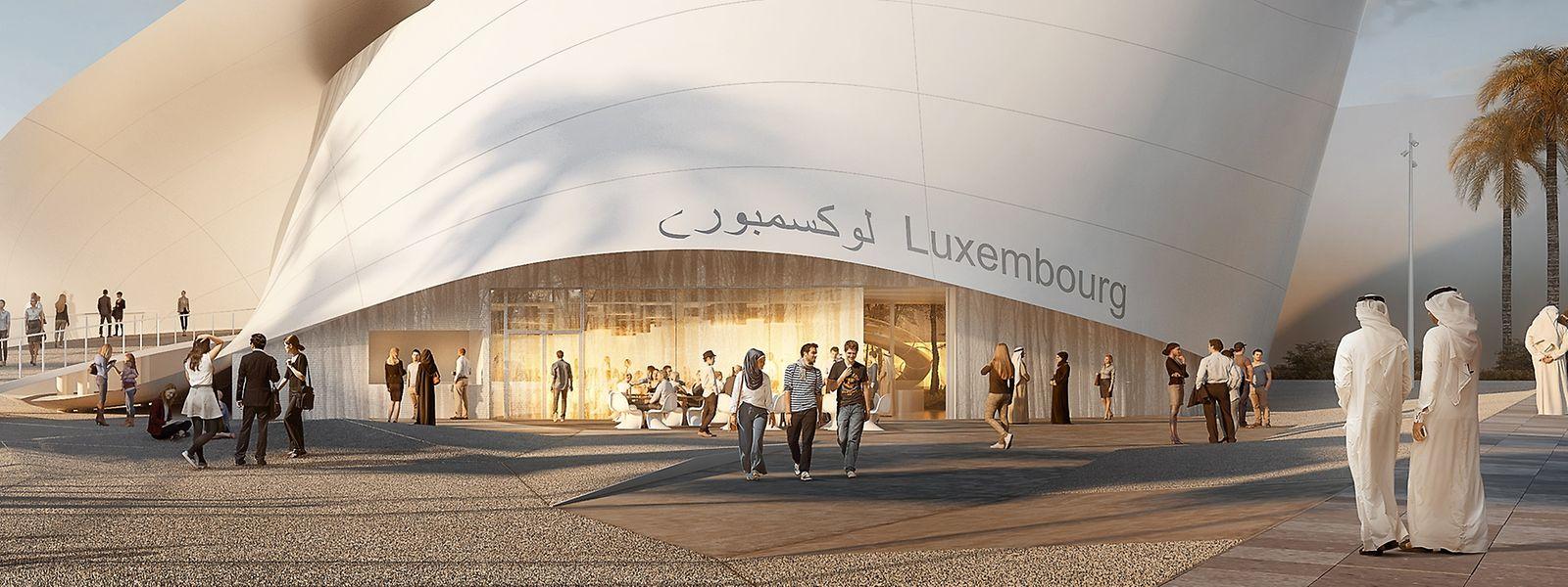 Der Luxemburger Pavillon für die Expo 2020 in Dubai wird gerade fertiggestellt.