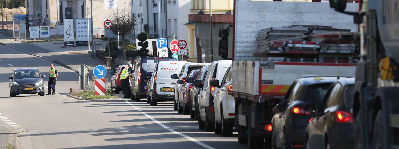 Ab Freitag wird die deutsch-luxemburgische Grenze nur noch an sieben Punkten passierbar sein.