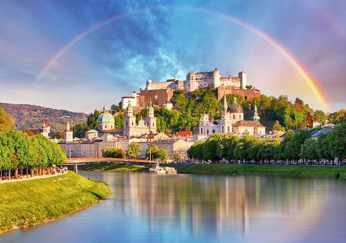 The imposing Hohensalzburg Castle is open once more to visitors to Salzburg Photo: Shutterstock