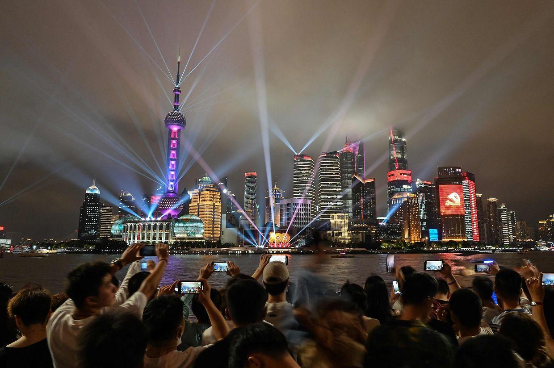 Comemorações dos 100 anos do PCC, em Pequim.