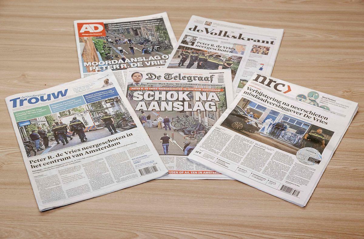 Die Tat dominierte die Schlagzeilen der niederländischen Presse am Mittwoch.