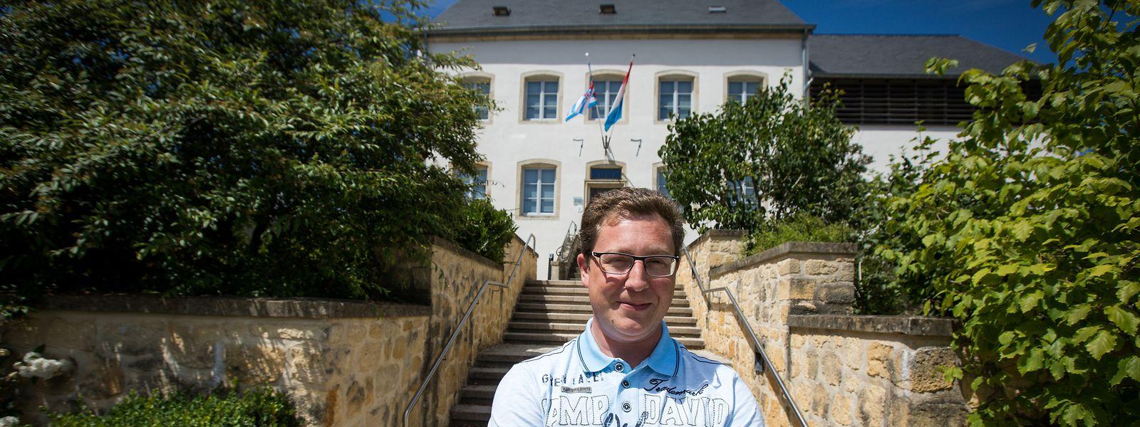 Frank Conrad ist der neue Hausherr im schmucken Gemeindehaus in Tüntingen.